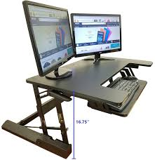 amazon com standing desk height adjustable stand up sit stand