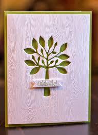 handmade birthday card clean and simple design tree die