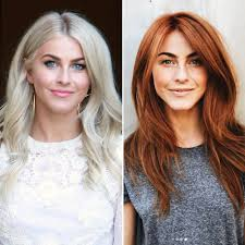 julia hough new haircut julianne hough dyes hair color red details pics