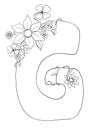 letter g coloring pages letter