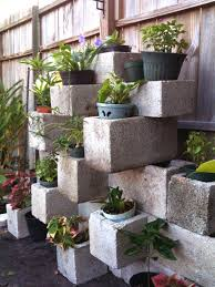 cinder block ideas like the outdoor uses picmia