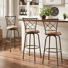Bar Stool Sets Of 3 Adjustable Swivel High Back Kitchen Stools Set Of 3 Free
