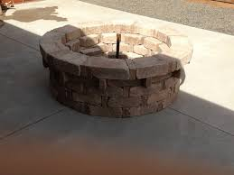 Rumblestone Fire Pit Insert by Pavestone Rumbletone Fire Pit Size Alterations The Home Depot