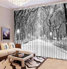 popular curtain winter buy cheap curtain winter lots from china photo customize size blackout curtains for living room winter snow scenery curtains for window night scene