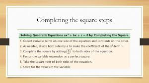 2 4 completing the square ppt download