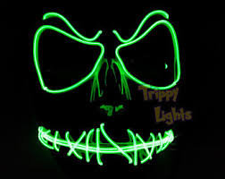 Light Halloween Costumes Light Mask Etsy