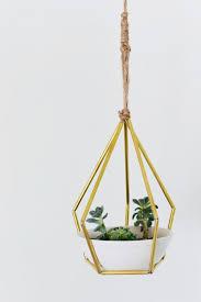diy geometric metal tubing hanging planter shelterness