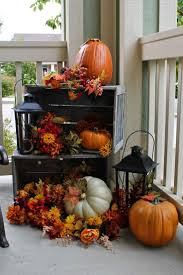 Fall Decorated Porches - fall home decorating ideas christmas lights decoration