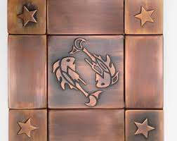 We Make Quality Metal Accessories For House By MyCopperCraft - Copper tile backsplash