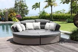 hotel pool side combinational rattan sofa bed ft 2107