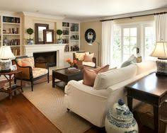 Classy And Neutral Family Room Furniture Arrangement Business - Furniture family room