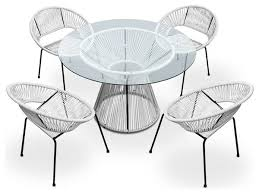 White Outdoor Dining Chairs White Outdoor Wicker Furniture 20 Sets To Choose From