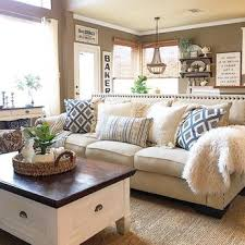 Living Room Sofa Pillows A Beautiful Living Room With Lots Of Soothing Neutrals And Blue