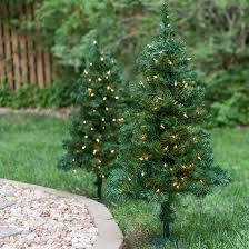 outdoor decorations 2 walkway pre lit winchester fir tree 50