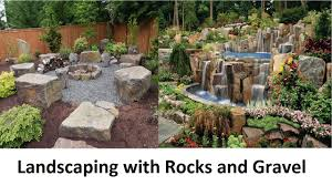 Rock Water Features For The Garden by Awesome Landscaping With Rocks And Gravel Youtube