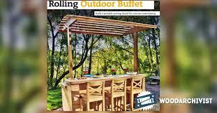 rolling outdoor buffet table plans u2022 woodarchivist