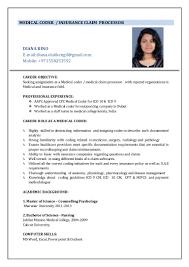 sample resume for medical billing and coding resume medical coder