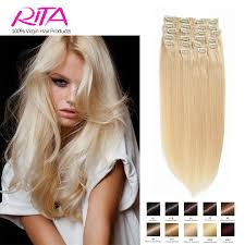 Human Hair Extensions With Clips by Platinum Blonde Clip In Hair Extensions Tape On And Off Extensions