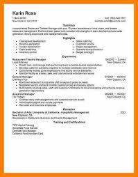 Actor Resume Samples by 5 Movie Theater Resume Sample Sephora Resume