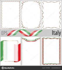 cornici foto gratis italiano set di 6 cornici e bordi con colorazione bandiera italia