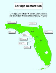 Florida Springs Map Gov Rick Scott Announces Investment Of 37 Million For Water