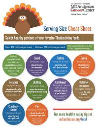 healthy serving sizes for thanksgiving dinner md cancer