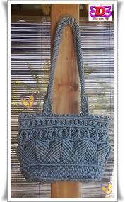 cara akhir membuat tas dari tali kur hom house of macrame tas tali kur