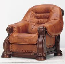 Best Leather Armchair Attractive Leather And Wood Sofa With Best Leather Wood Sofa With