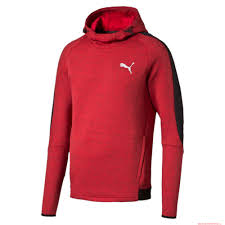 the lowest price men puma evostripe proknit hoodie barbados cherry