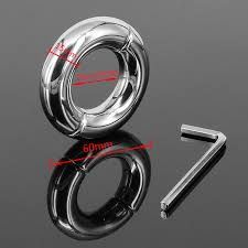 metal ball rings images Stainless steel penis ring scrotum pendant ball stretcher cockring jpg