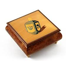 buy dreidel buy traditional dreidel wood inlay musical jewelry box with