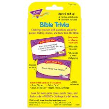 amazon com trend enterprises bible trivia flash cards toys u0026 games