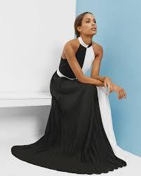 colour block maxi dress black dresses ted baker