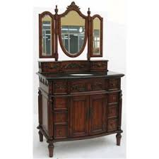 fancy glazed painted victorian bathroom vanity vintage style of