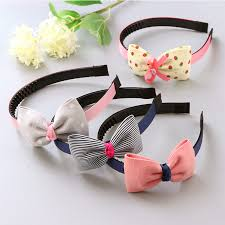 hair band fashion children plastic headband big bows flower spot