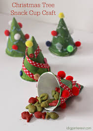 christmas tree snack cup craft i dig pinterest