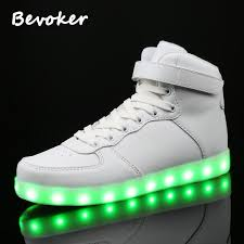 high top light up shoes bevoker women men high top usb rechargeable 7 colors led light up shoe