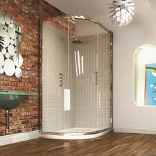 Bathroom Shower Trays by Merlyn Series 8 Single Door Offset Quadrant Shower Enclosure Uk