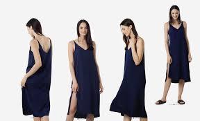 grana silk v neck slip dress review u2014 temporary housewifey