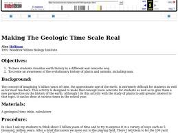 making the geologic time scale real 4th 6th grade lesson plan