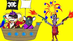 rat a tat u0027pirate ship fireworks shoot off kids animation videos
