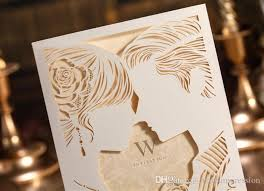 wedding invitations laser cut laser cut out lover wedding invitations cards wedding