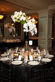 Black And White Centerpieces For Weddings by 25 Best Black Tablecloth Wedding Ideas On Pinterest Black
