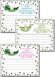 advice for the cards pea in a pod baby shower advice cards