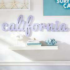 california wood word decor pbteen