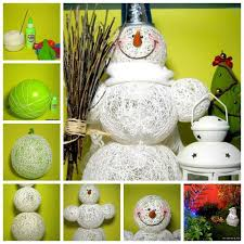 creative ideas diy adorable snowman using yarn and balloons