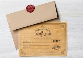 wooden gift card