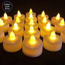 6 hour tea lights amazon com led tealight candles with timer 6 hours on and 18