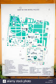map of the grounds of the royal palace in phnom penh stock photo