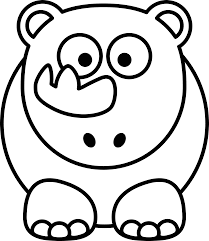 pumpkin face svg cartoon rhino black white line art scalable vector graphics svg